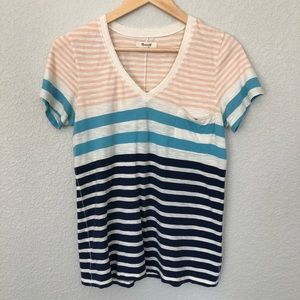Madewell Short Sleeve Striped T Shirt Medium